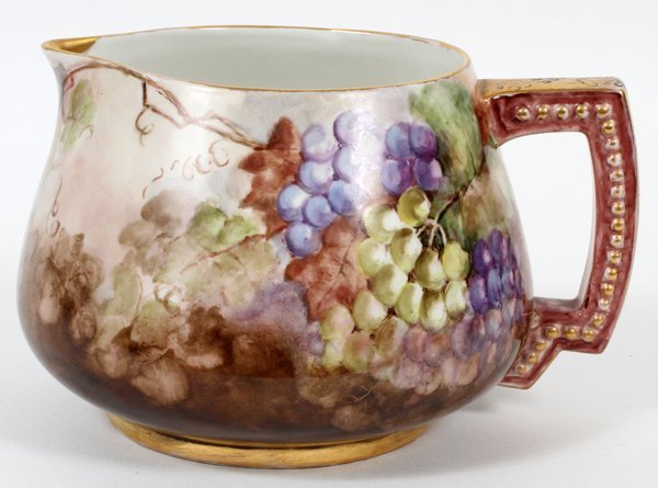 LIMOGES PORCELAIN PITCHER BY LEWICH MILLER
