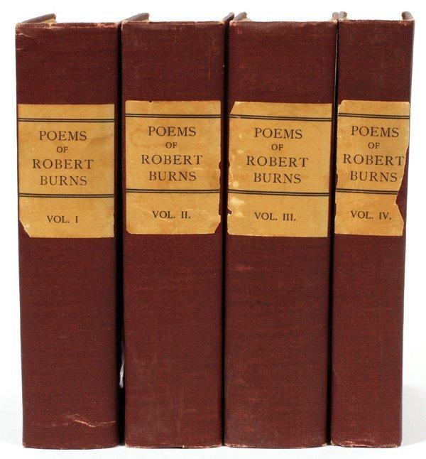 ROBERT BURNS 'POEMS' FOUR VOLUMES