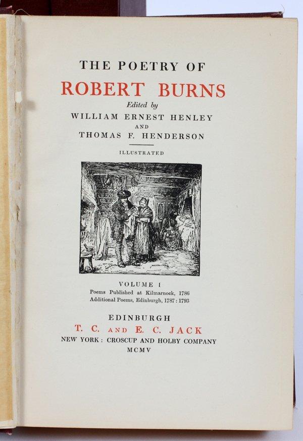 ROBERT BURNS 'POEMS' FOUR VOLUMES - 2