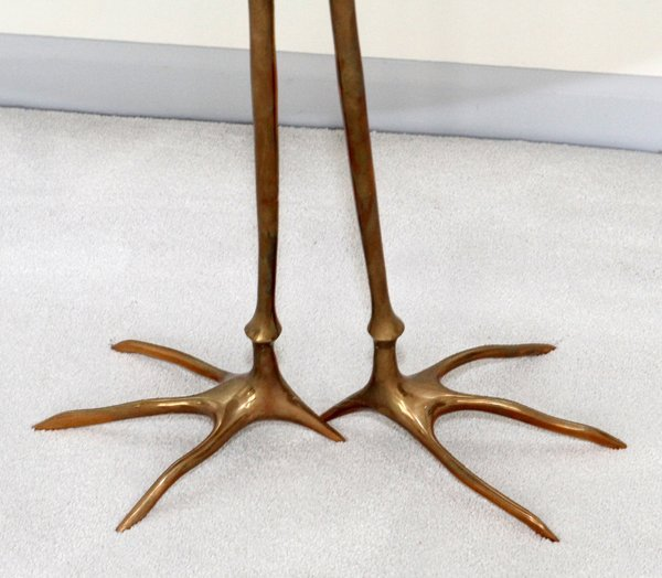 MERET OPPENHEIMBRONZE & GILT WOOD TRACCIA END TABLE - 10