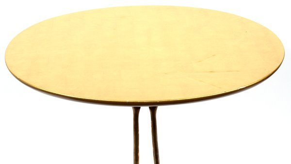 MERET OPPENHEIMBRONZE & GILT WOOD TRACCIA END TABLE - 3