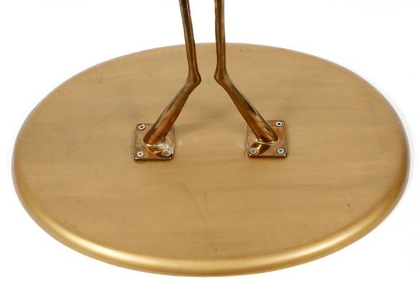 MERET OPPENHEIMBRONZE & GILT WOOD TRACCIA END TABLE - 7