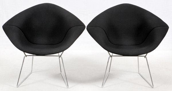 HARRY BERTOIA FOR KNOLL DIAMOND CHAIRS MID 20TH C.