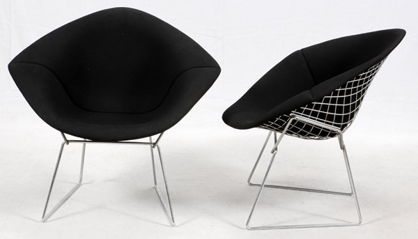 HARRY BERTOIA FOR KNOLL DIAMOND CHAIRS MID 20TH C. - 2