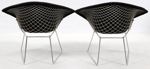 HARRY BERTOIA FOR KNOLL DIAMOND CHAIRS MID 20TH C. - 3