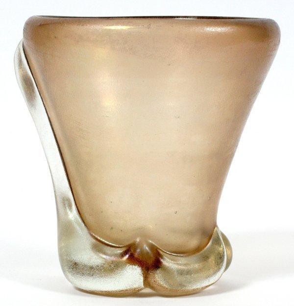 CARLO SCARPA CORROSO GLASS VASE C. 1965