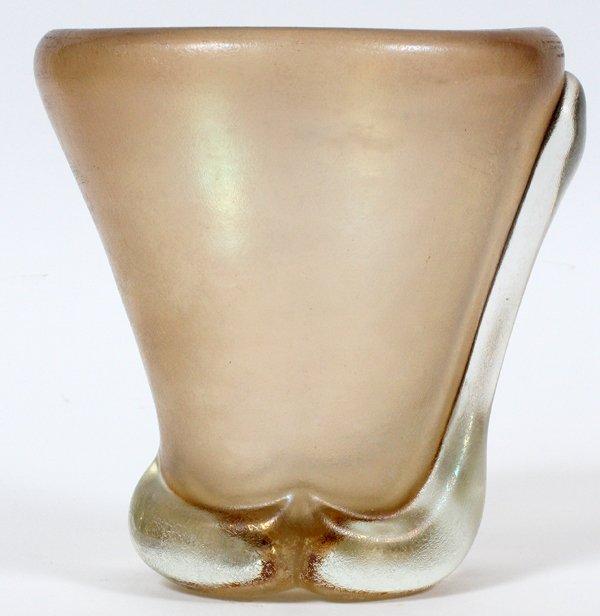 CARLO SCARPA CORROSO GLASS VASE C. 1965 - 2