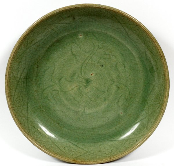 CHINESE CELADON POTTERY BOWL 18TH C. - 2
