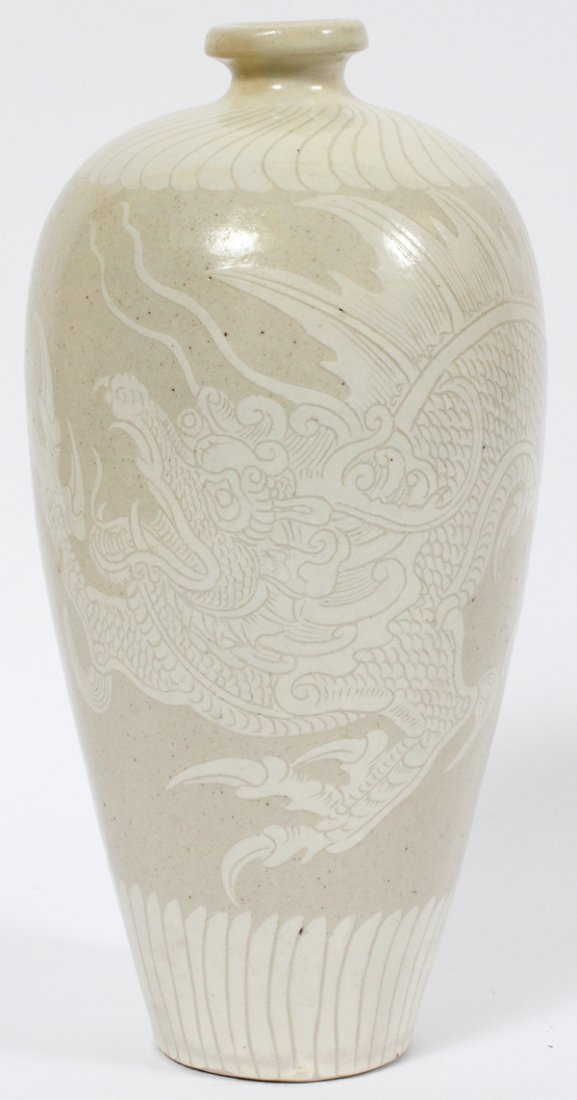 CHINESE INCISED PORCELAIN VASE