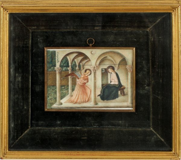 PIMPINELLI HAND-PAINTED MINIATURE LATE 19TH C. - 2