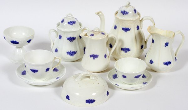 ADDERLEY 'BLUE CHELSEA' PORCELAIN CUPS & SAUCERS