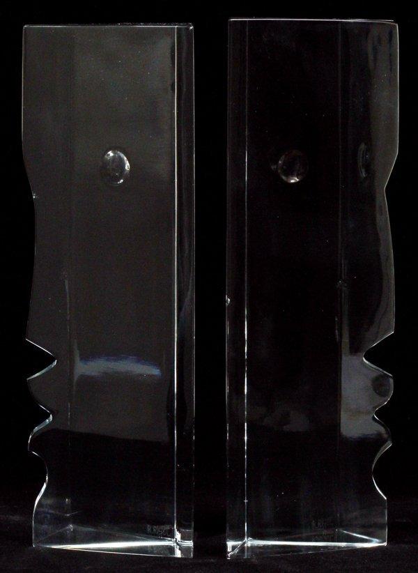 BACCARAT CRYSTAL FACE SCULPTURES BY ROBERT RIGOT - 2