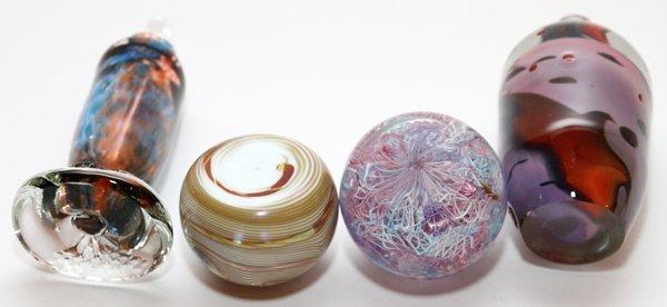 STUDIO GLASS BOTTLES & PAPERWEIGHTS C. 1980 - 3