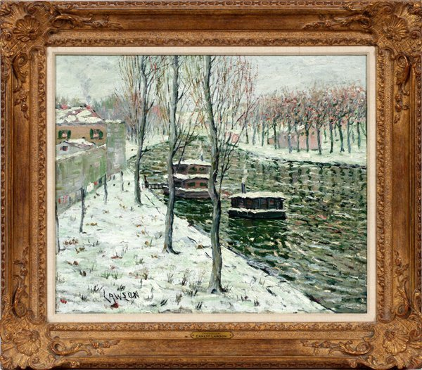 ERNEST LAWSON OIL ON CANVAS
