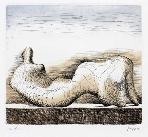 HENRY MOORE COLOR ETCHING