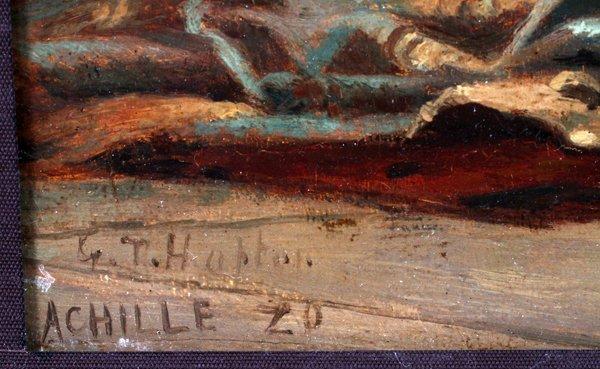 G. T. HAPTON OIL ON BEVELLED WOOD PANEL 1920 - 4