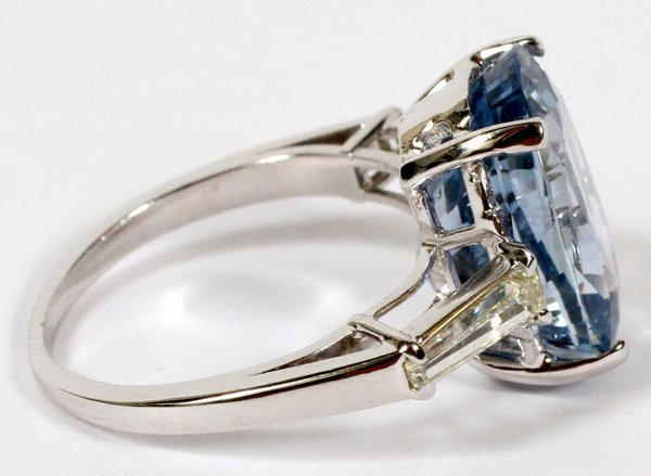 OVAL 10.31 CT NATURAL SAPPHIRE RING - 2