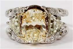 3.07 CT CANARY DIAMOND RING
