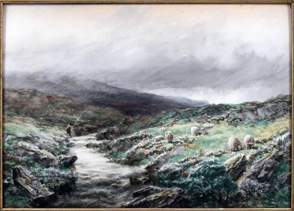 DAVID FARQUHARSON WATERCOLOR - 2