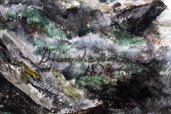 DAVID FARQUHARSON WATERCOLOR - 3