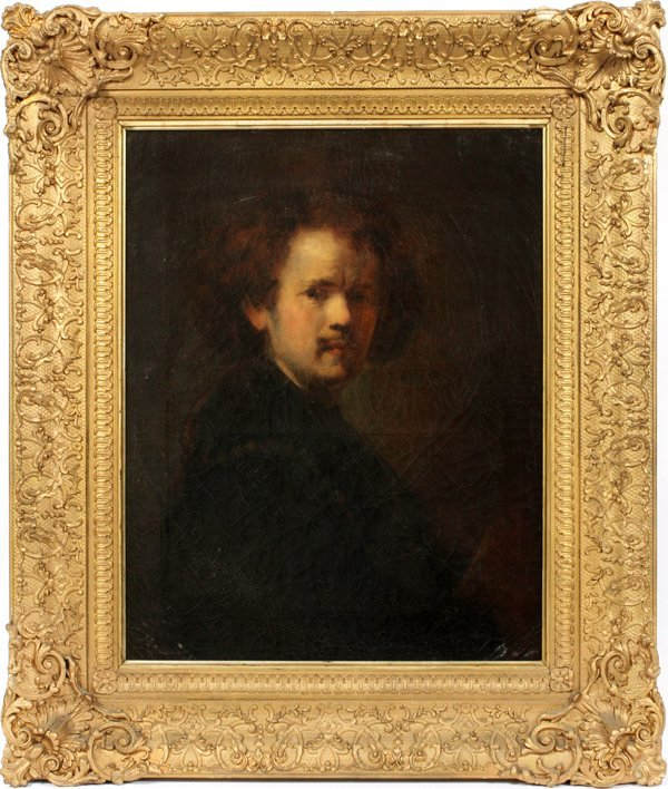 AFTER REMBRANDT OIL ON CANVAS C. LATE 19TH C.