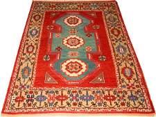 TURKISH HAND WOVEN WOOL RUG KAZAK DESIGN