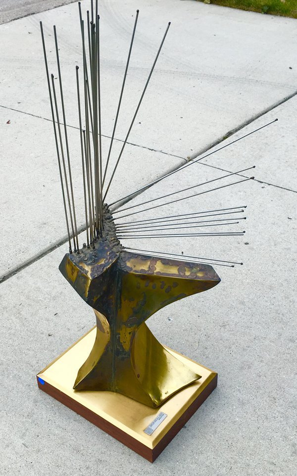 PAUL GONZALEZ BRASS SCULPTURE