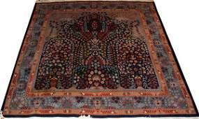 ORIENTAL PERSIAN DESIGN HAND LOOMED WOOL PRAYER RUG