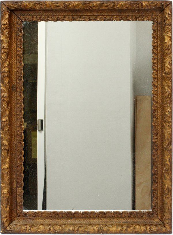 CARVED WOOD WALL MIRROR