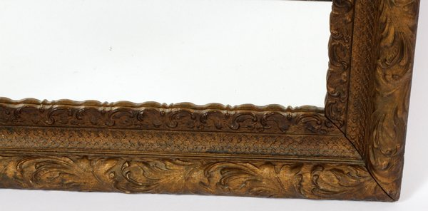 CARVED WOOD WALL MIRROR - 2