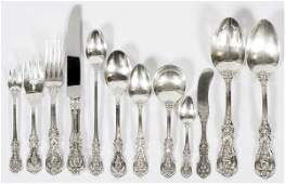 REED  BARTON FRANCIS I STERLING FLATWARE 135 PIECES