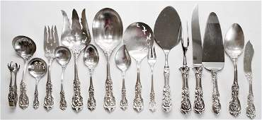 REED  BARTON FRANCIS I STERLING SERVING PIECES