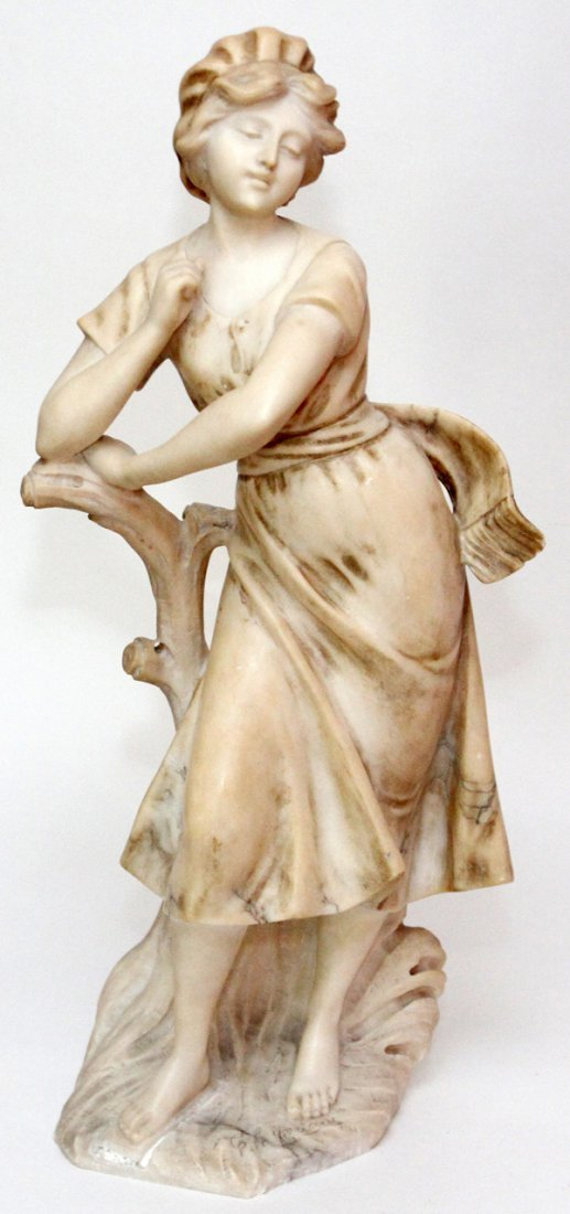 CARVED MARBLE FIGURE CIRCA 1900