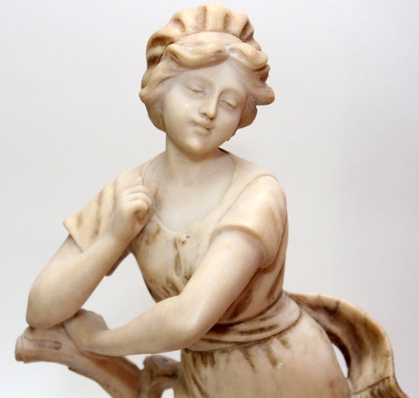 CARVED MARBLE FIGURE CIRCA 1900 - 2