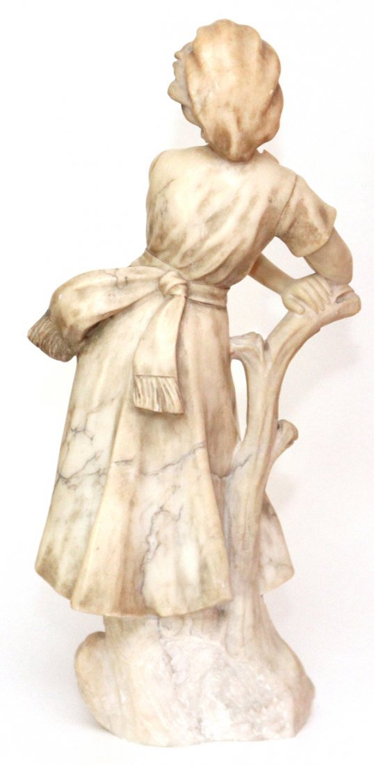 CARVED MARBLE FIGURE CIRCA 1900 - 4