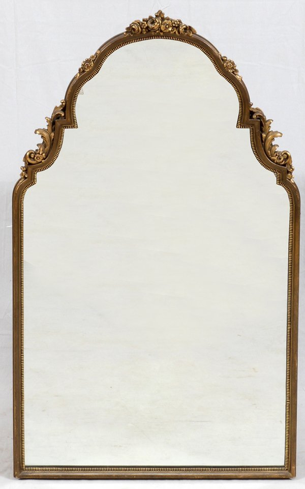 CARVED WOOD & GILT WALL MIRROR