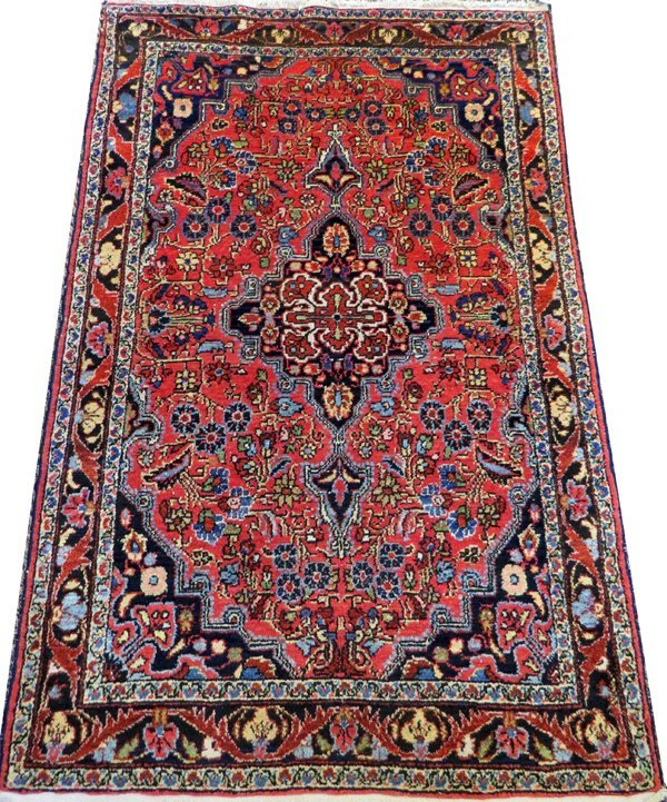 HAMADAN PERSIAN RUG SEMI ANTIQUE