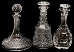 WATERFORD CRYSTAL DECANTER AND OTHERS 3 PIECES