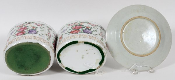 JAPANESE & CHINESE PORCELAIN PAIR OF JARS & PLATE - 2