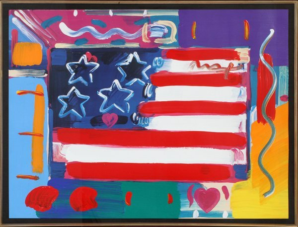 PETER MAX MIXED MEDIA ACRYLIC COLOR OFFSET LITHO - 2
