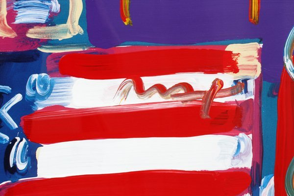 PETER MAX MIXED MEDIA ACRYLIC COLOR OFFSET LITHO - 3