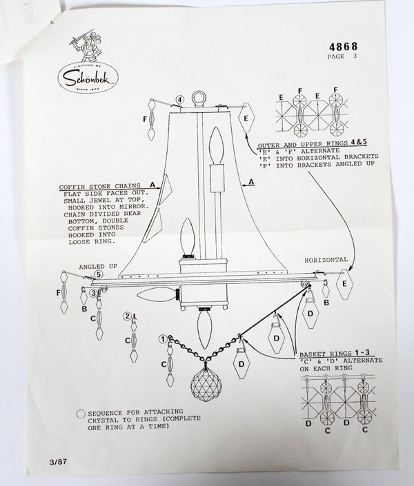 SCHONBEK CRYSTAL 11 LIGHT CHANDELIER - 4