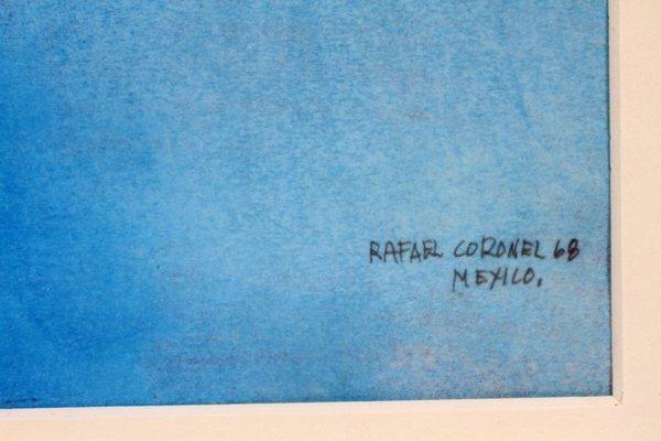 RAFAEL CORONEL PASTEL & PENCIL DRAWING ON PAPER - 3