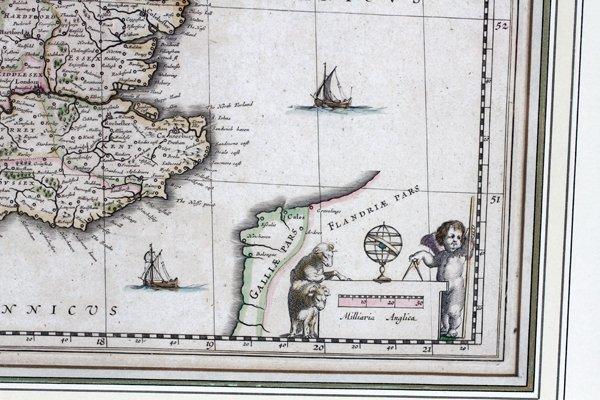 G. BLAEU ENGRAVED MAP ANGLICA REGNUM - 3