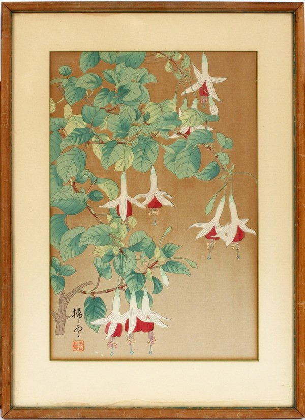 HAND COLORED FRESH FLOWER WOODBLOCK