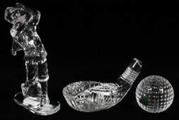 WATERFORD CRYSTAL GOLFER COLLECTION THREE PIECES