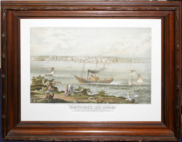 050001: LITHOGRAPH, C.1870, DETROIT IN 1820 W/ VIEW