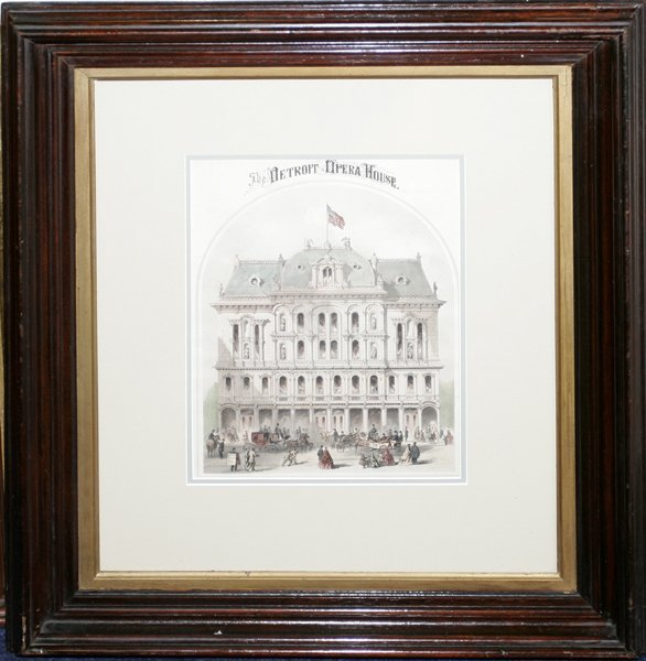050007: LITHOGRAPH, THE DETROIT OPERA HOUSE, C.1868