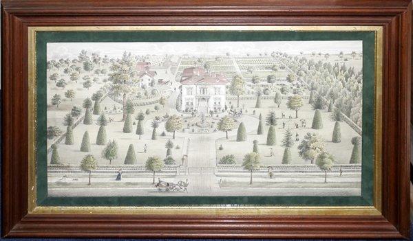 050009: LITHOGRAPH, BUHL RESIDENCE, DETROIT, C.1876