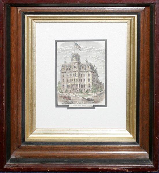 050010: LITHOGRAPH, DETROIT PUBLIC HIGH SCHOOL, C.1880
